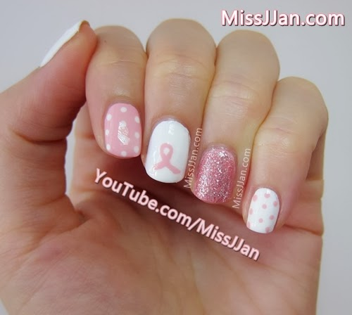 Missjjan S Beauty Blog Breast Cancer Awareness Nail Art