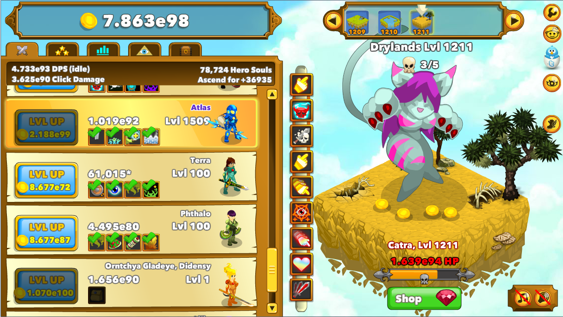 Clicker Heroes Catra Nackt Clicker Heroes Video Game 2019 04 25