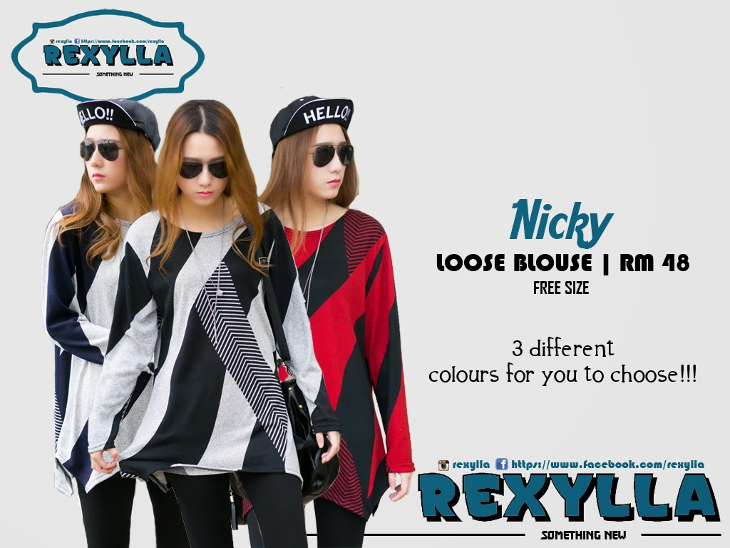 rexylla, loose blouse, printed stripe, nicky collection