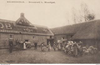 La Brasserie Moortgat sur une carte postale ancienne