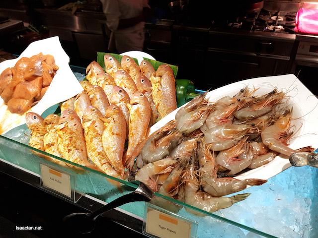 Tiger Prawn and loads of seafood choices