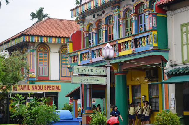 Colorful Houses in Little India, Singapore
