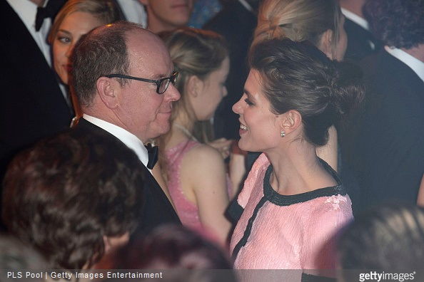 Charlotte Casiraghi and Prince Albert II of Monaco attend the Rose Ball 2015 in aid of the Princess Grace Foundation at Sporting Monte-Carlo