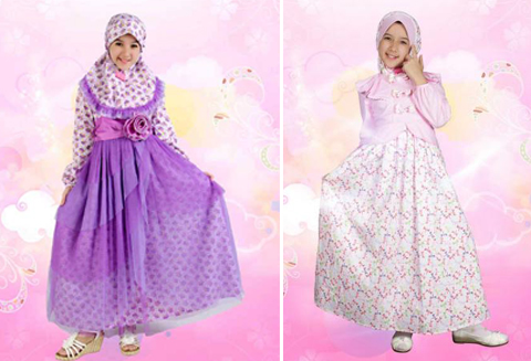 baju dress muslim anak
