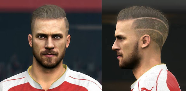 PES 2016 Aaron Ramsey New Face & Hair