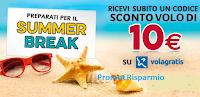 Logo KitKat ''Preparati per il Summer Break'': ricevi codici sconto da 10€ Volagratis come premio certo!
