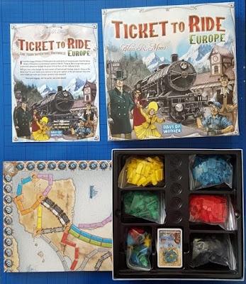 Ticket To Ride: European Edition box contents
