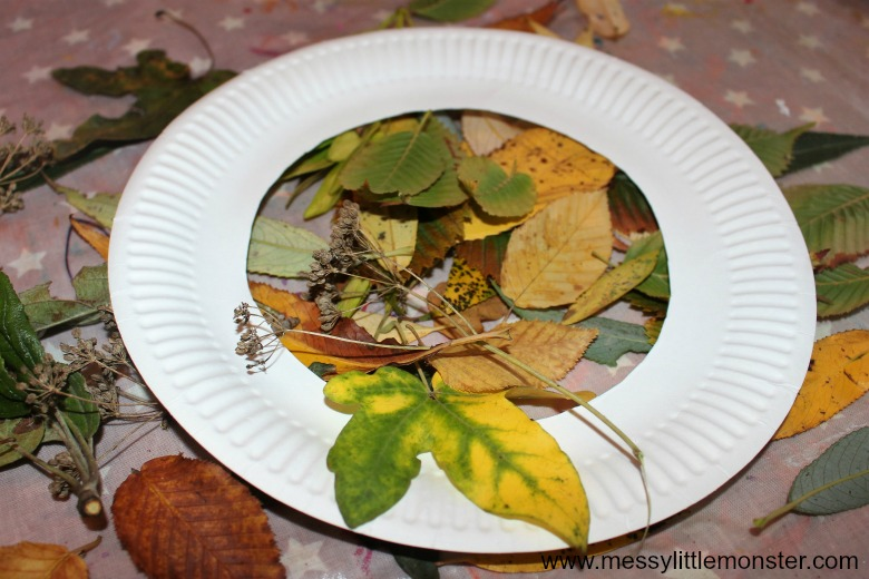 suncatcher craft for kids - leaf art