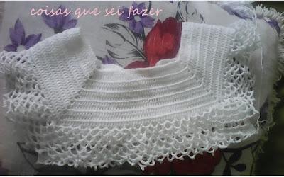 Parte da pala do vestido de crochê