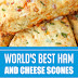 World's Best Ham and Cheese Scones #ham #breakfastrecipes