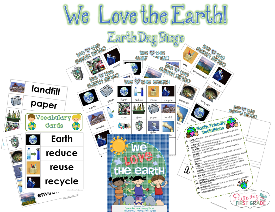 Fluttering Through First Grade Earth Day Activities Recycle