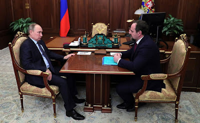 Vladimir Putin meet with Minister of Natural Resources and Environment Sergei Donskoy.