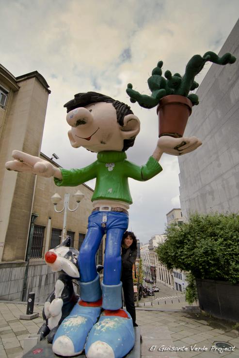 Gaston Lagaffe - Bruselas por El Guisante Verde Project