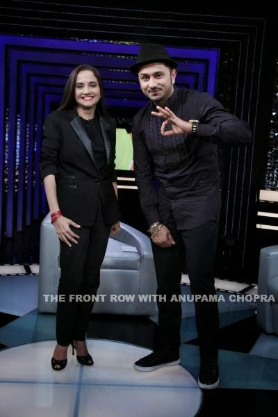 Rap artist and composer, Yo! Yo! Honey Singh on The Front Row With Anupama Chopra
