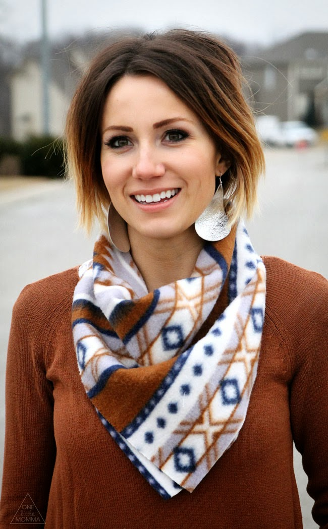 Try this ten minute tutorial for a new scarf- the bandanna scarf!