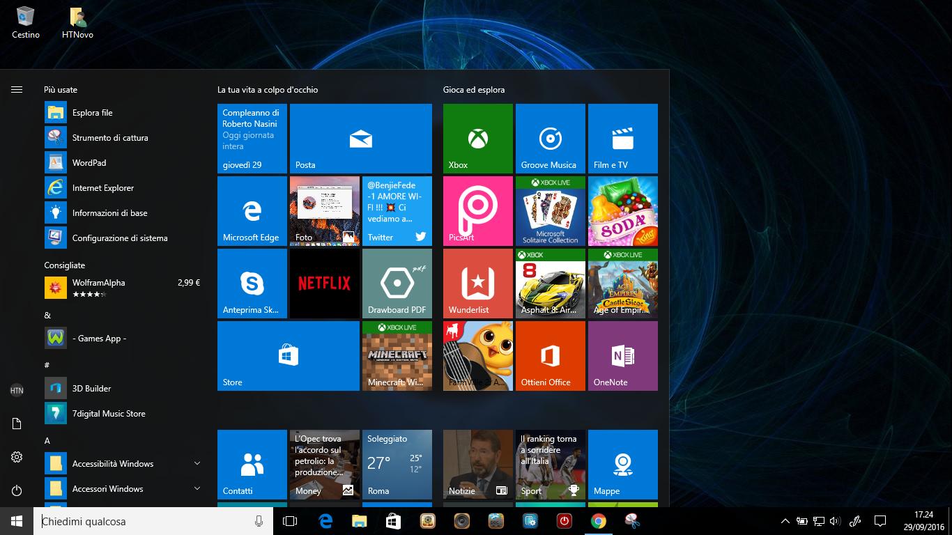 Come riposizionare l'orologio alla fine della Taskbar in Windows 10 AU HTNovo