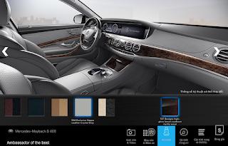 Nội thất Mercedes Maybach S400 4MATIC 2017 màu Xám Crystal 508