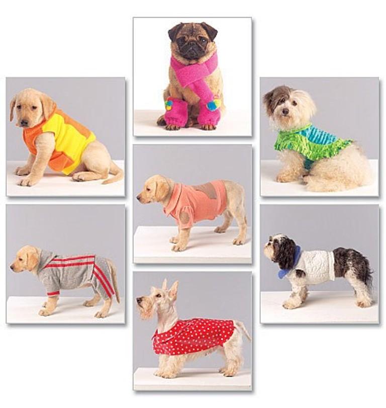 Phantasiali Stoffe: Schnittmuster, Hunde, Hundemantel, zwei Farben ...