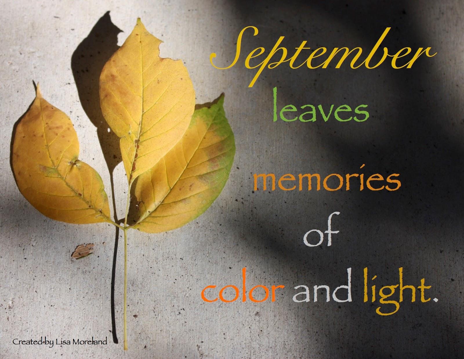 Beside Still Waters September Memories