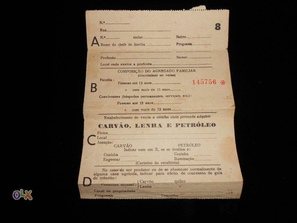 deb77749cf Alguns dos nossos leitores ainda se lembrarão do racionamento decretado  durante a II Guerra Mundial. A falta de víveres e outros produtos  essenciais