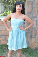 Sahana New cute Telugu Actress in Sky Blue Small Sleeveless Dress ~  Exclusive Galleries 045.jpg