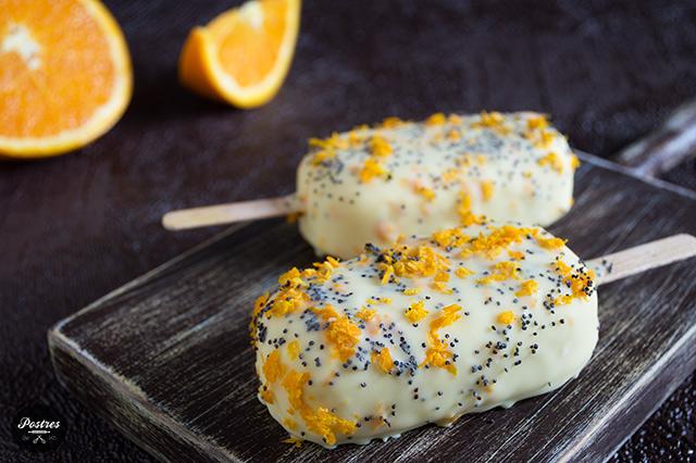 🍦 Helado de Naranja y Jengibre con semillas de Amapola