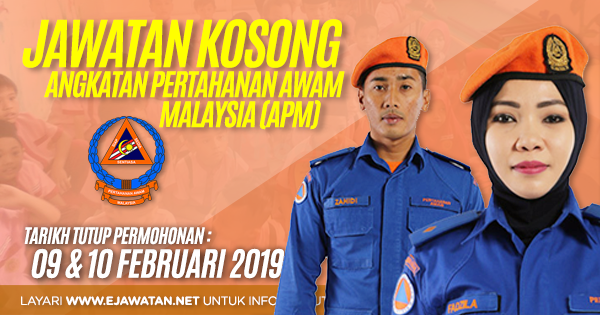 jawatan kosong kerajaan Angkatan Pertahanan Awam Malaysia (APM) 2019