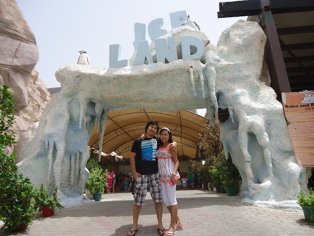Outside of Ice Land Water Park Ras Al Khaimah