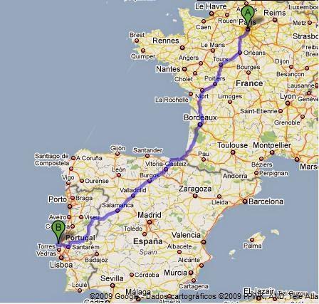 Viagem de carro Paris Lisboa