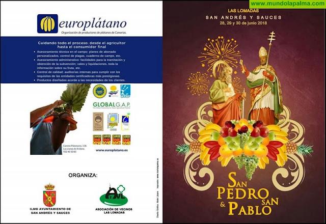 Programa de Fiestas en honor a San Pedro y San Pablo de Las Lomadas 2018. San Andrés y Sauces