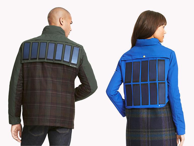 Áo khoác tích hợp pin năng lượng mặt trời