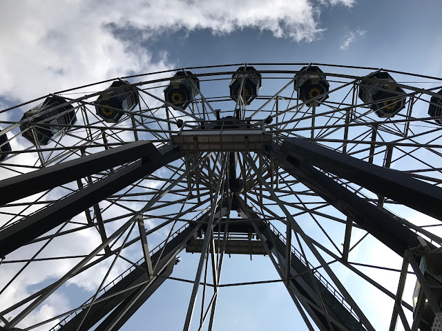 View of the big wheel taken centrally from below