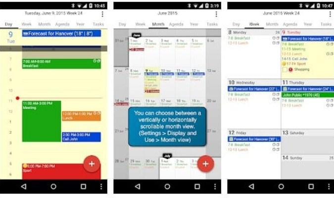 Aplikasi Kalender untuk Smartphone Android - CalenGoo