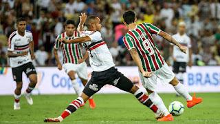 Santa Cruz Perde Por 2X0 Para o Fluminense Pela  Copa do Brasil