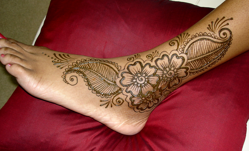 Henna Feet Tattoo ~ Design