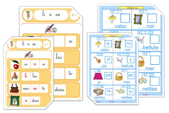 Ipot me t me cp 2 jeux avec les syllabes - Couper les mots en syllabes ...