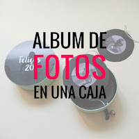 idea de regalo diy album en una caja