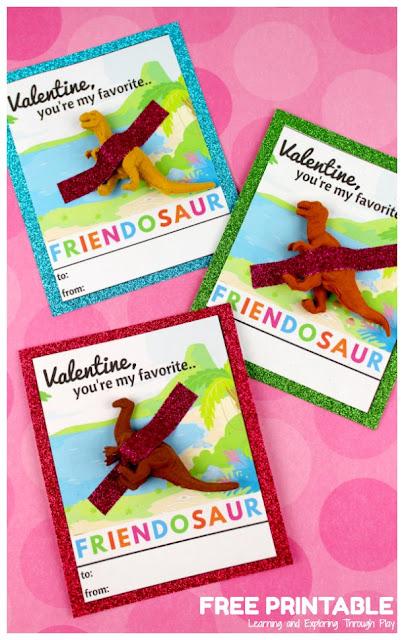 Dinosaur Valentines Printable