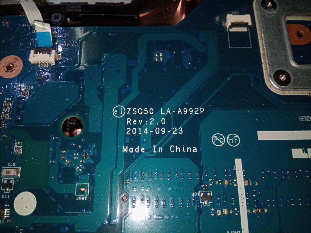 la a992p motherboard for hp 15 laptops schematic and bios file  [ 1280 x 960 Pixel ]