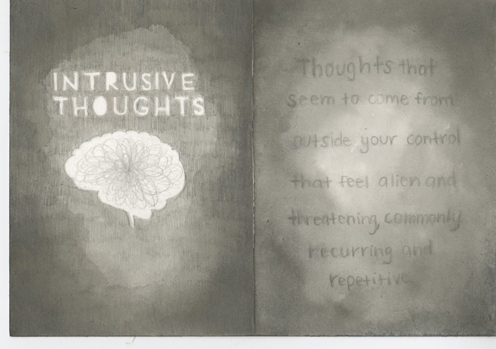 Trim Marks Intrusive Thoughts A Short Art Book About