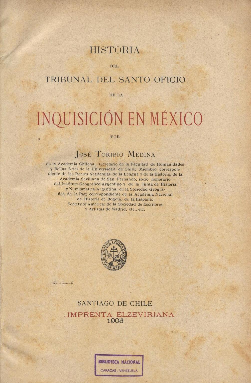 Libros Raros Y Manuscritos : INQUISICIÓN EN MÉXICO (1905)  @tataya.com.mx