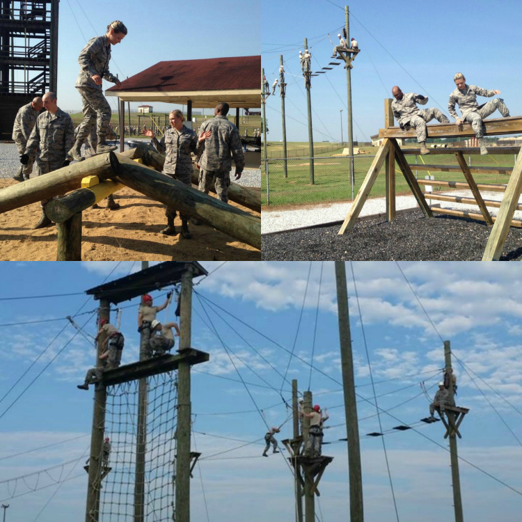 Officer Training School, Air Force OTS High Ropes Course