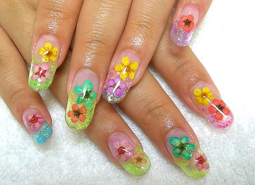 Best Nail Art Design: Beauty Best Nail Art: Flower Designs Nail Art