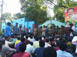 SCCL contractors workers 6th day strike