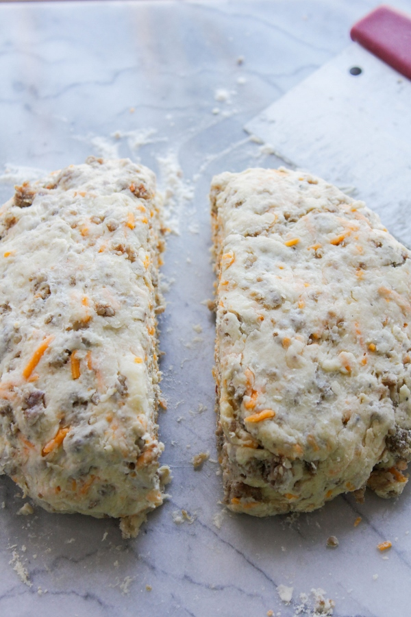 Sausage and cheddar cheese are the stars in these tender and flaky savory scones. They are the perfect addition to your breakfast or brunch menu!