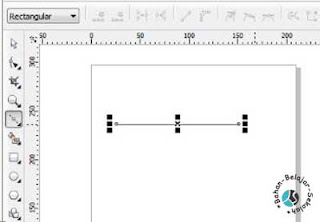 cara membuat garis lurus dengan bezier tool