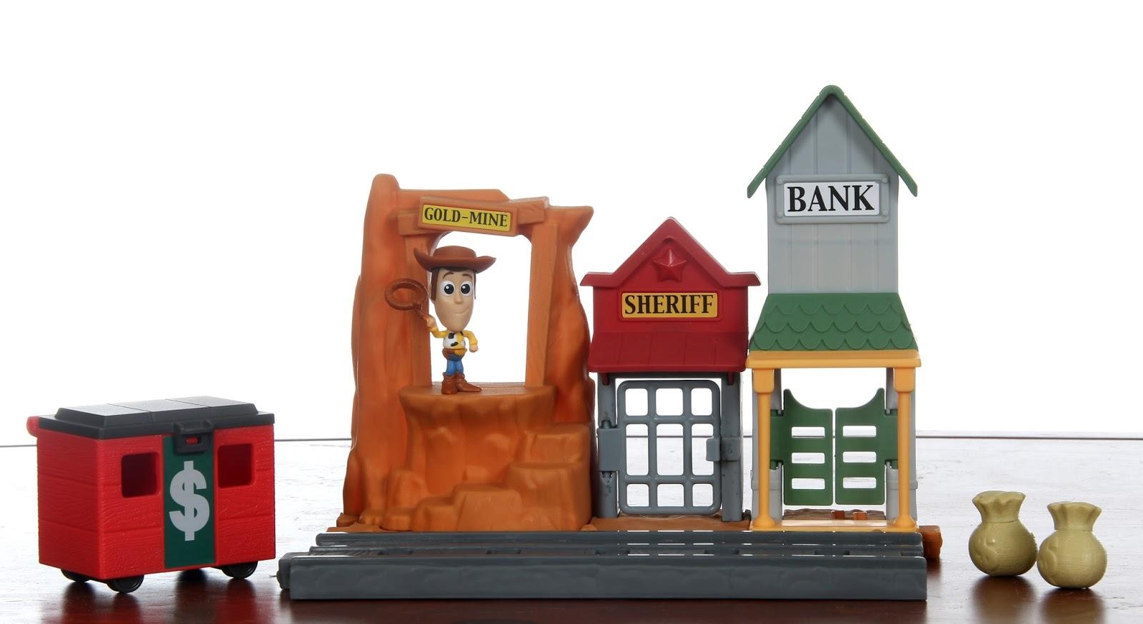 "Western Bedroom Tank Toy Box Or: Dan The Pixar Fan: Toy Story: Mattel ""Minis"" Playsets"