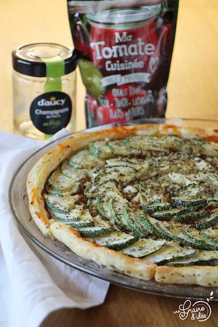Tarte fine végétarienne Champignons Courgettes Degustabox juin 2018 avis