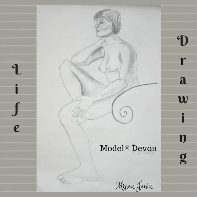 Nude Drawings by Minaz Jantz. Model Devon