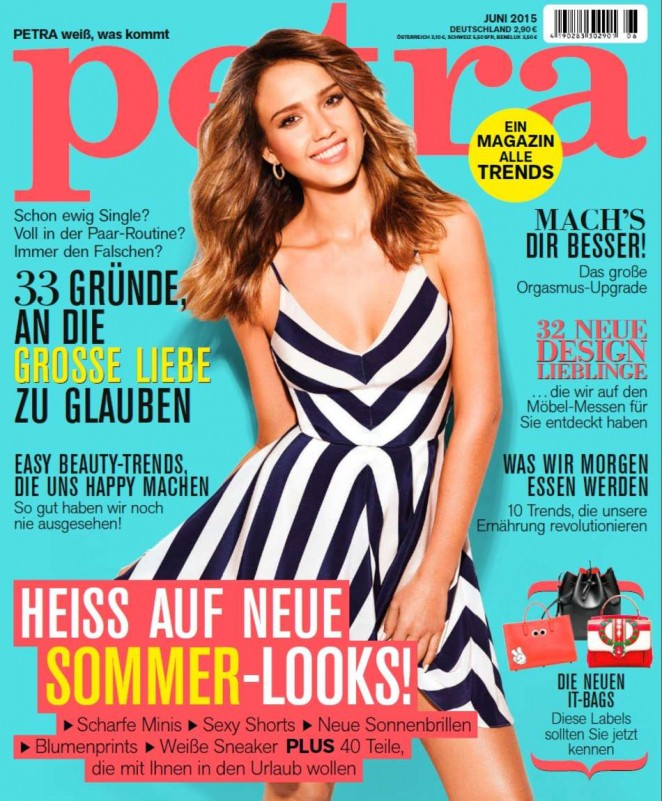 Jessica Alba is gorgeous for Petra Germany June 2015 cover